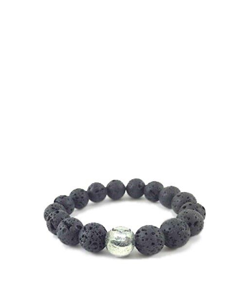 Bracelet perles de lave – grand modèle