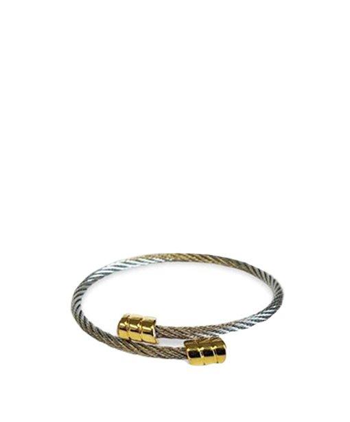 Bracelet en métal – bouts dorés